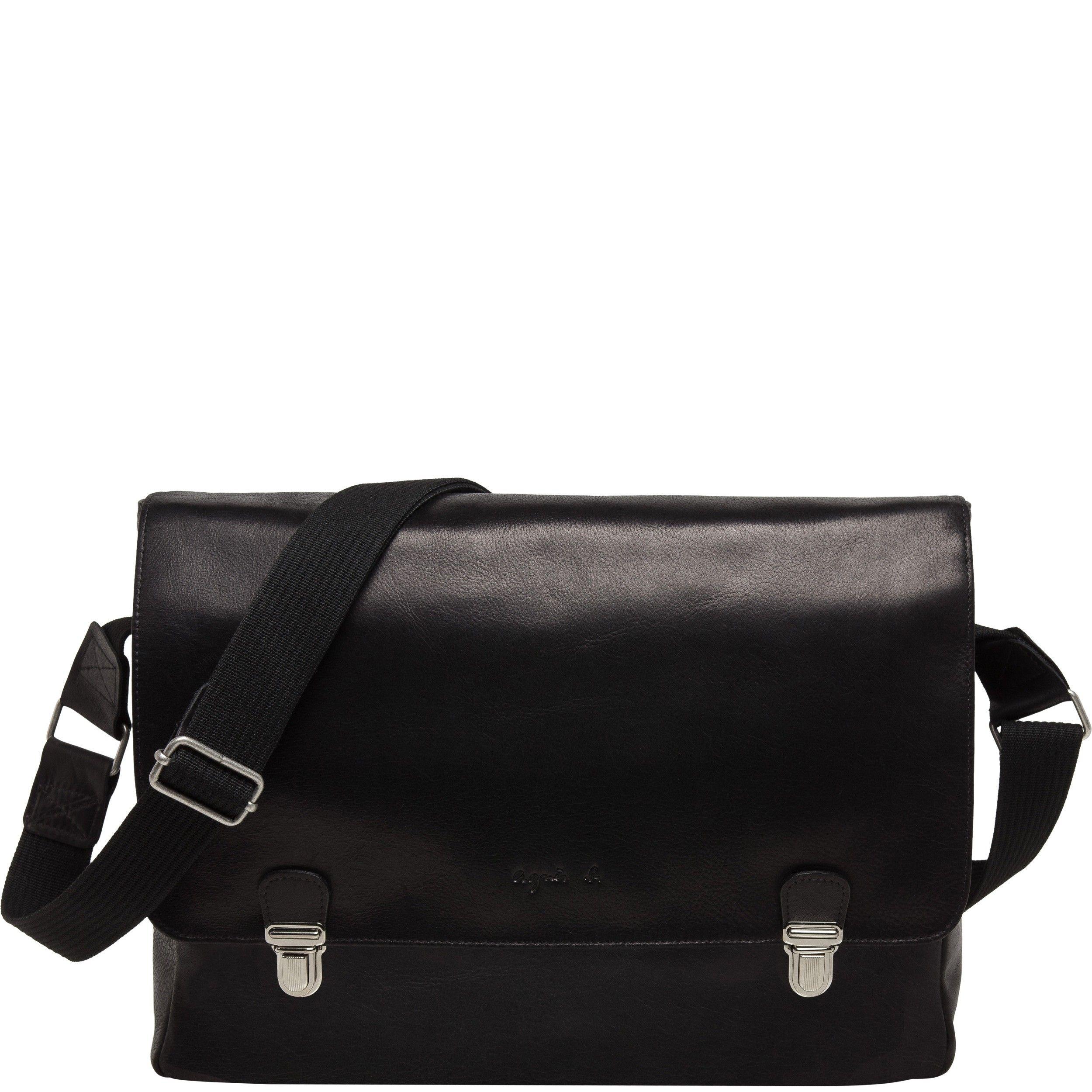 a3c48d091f Agnes b - soft leather messenger bag Agnès B, Besace, Homme Sacs, Cuir