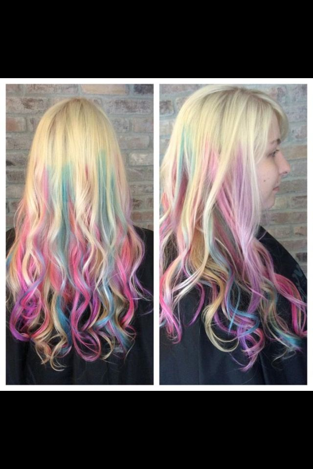Pastel Highlights Pastel Hair Bleach Blonde Hair Pink Hair