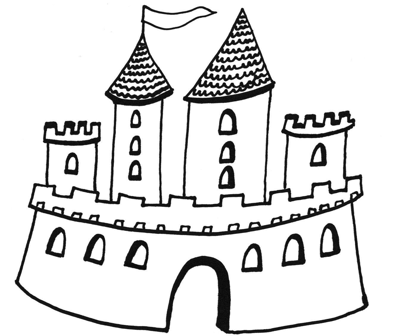 Zamek Kolorowanka Moje Dzieci Kreatywnie