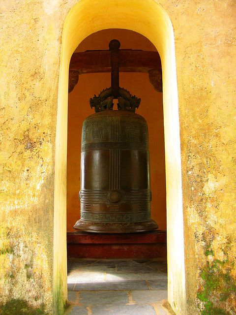 Traditional 17th century bell in Hue, Vietnam