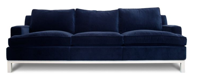 Best Inspiration For Our Upcoming Navy Sofa Blue Velvet Sofa 400 x 300