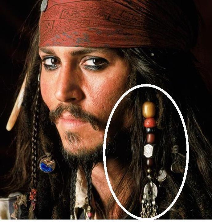hair beads renaissance pirates