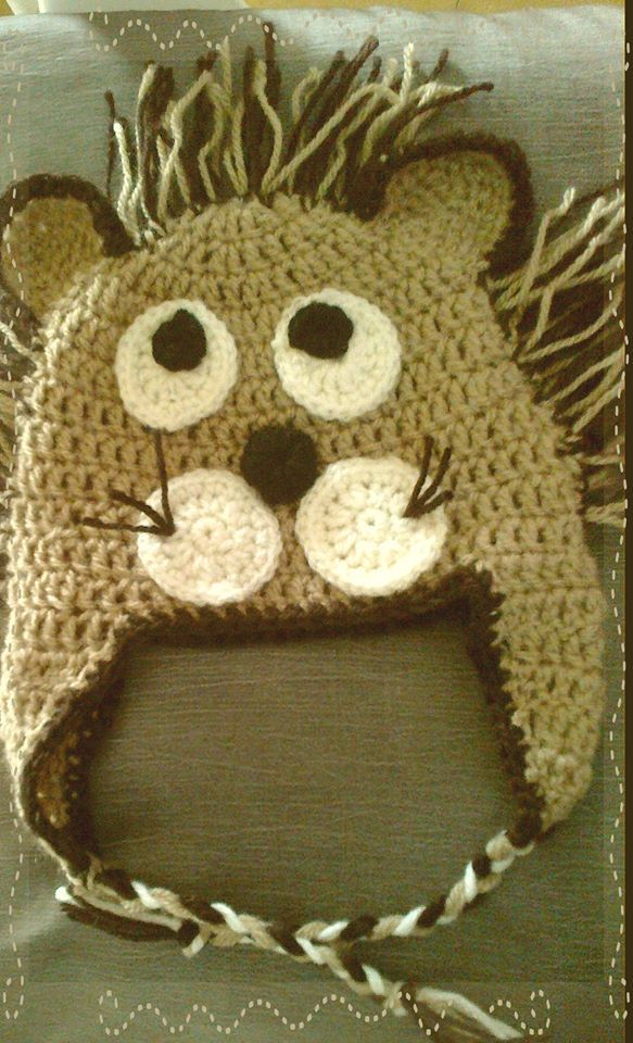 gorro crochet leon | Proyectos que debo intentar | Pinterest | León ...