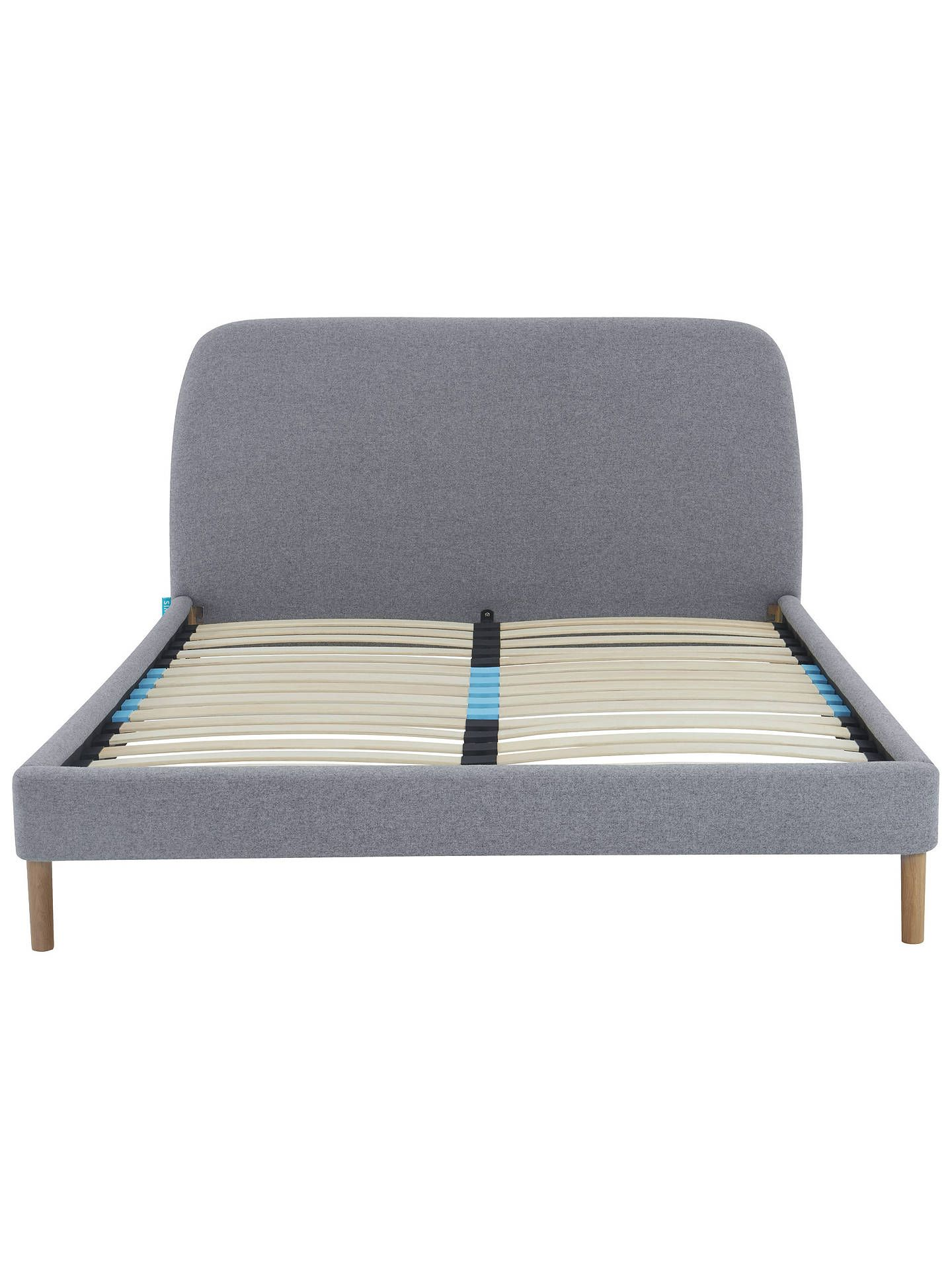 87ebfd3b63f0 BuySIMBA Upholstered Bed Frame with Headboard, Double, Grey Online at  johnlewis.com