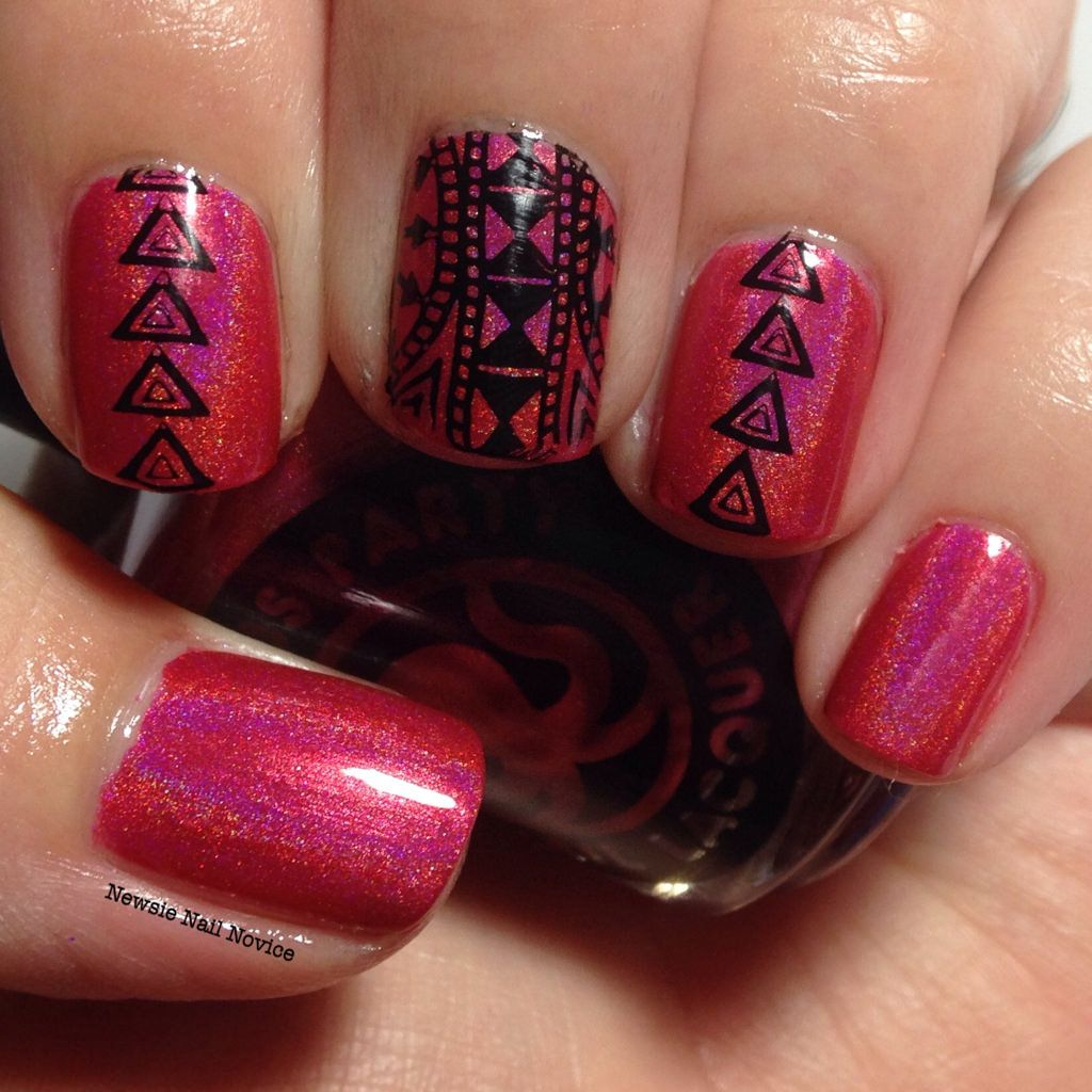 OPNL Bermuda High with Tribal Stamping using Bundle Monster BM-605 ...