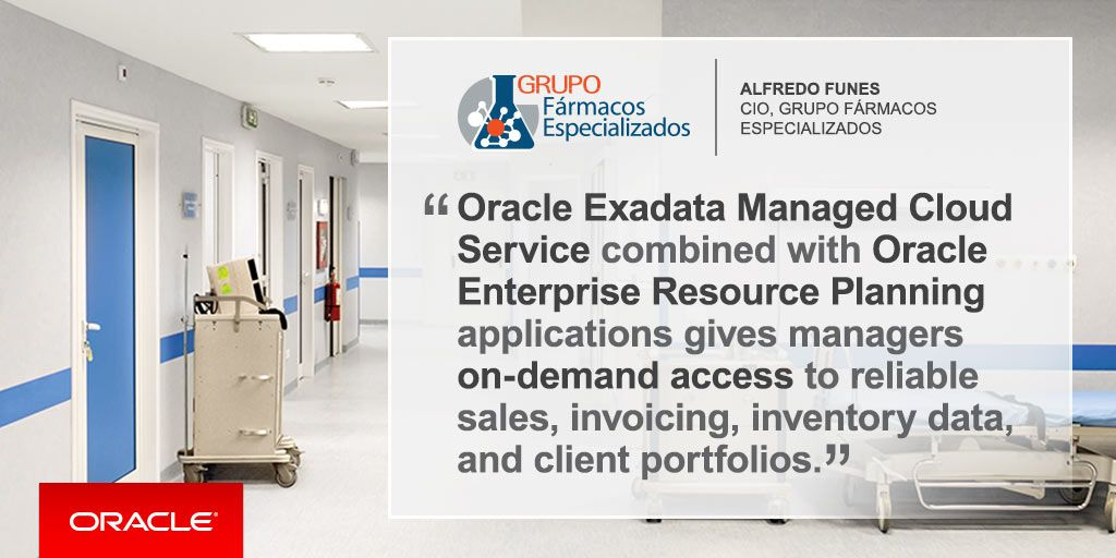 Oracle Exadata Managed Cloud Service combined with Oracle