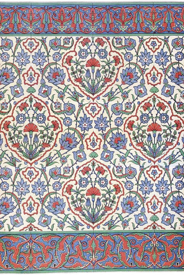 Islamic wall tiling decoration, 16th century | turkish art ...