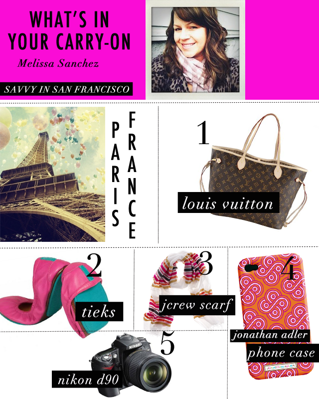@Savvy in San Francisco picks for her carry-on bag. #heycaryl
