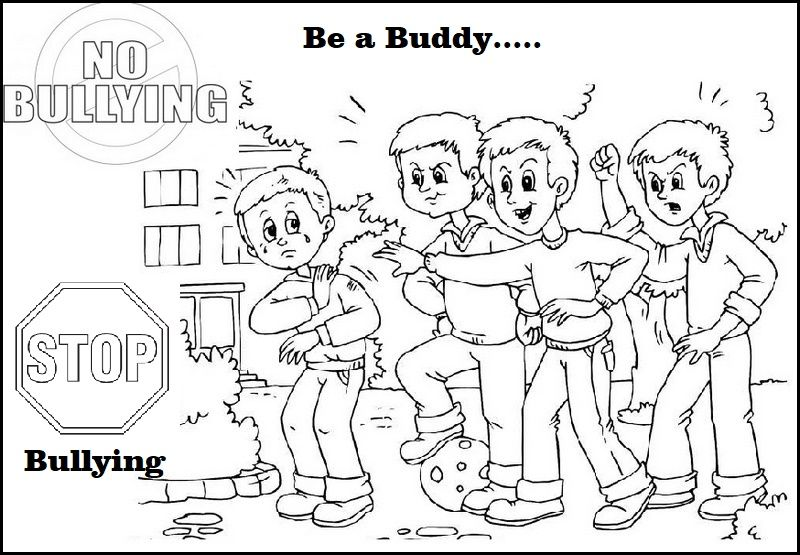 Anti Bullying Coloring Pages with a Message