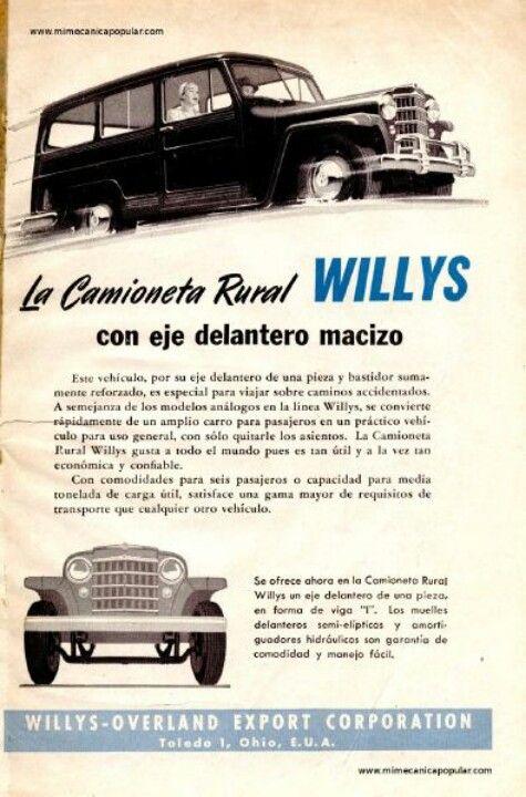 Willys la camioneta rural