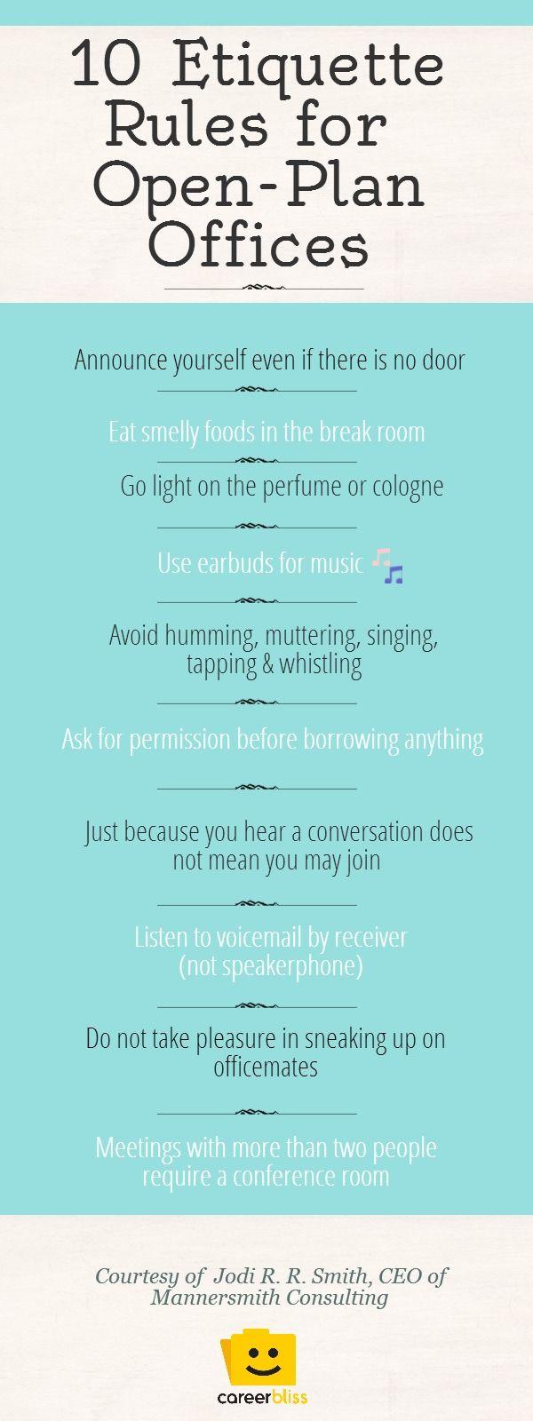 10 Office Etiquette Rules