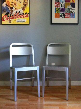 Craigslist Cb2 Bandit Aluminum Chair 2 Pcs Aluminum Chairs Chair Folding Chair