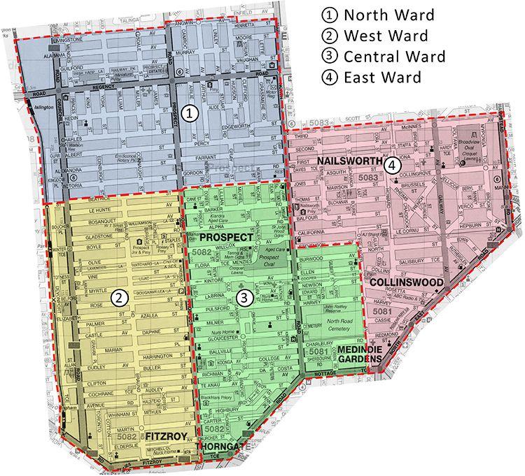 2014-2018 ward map