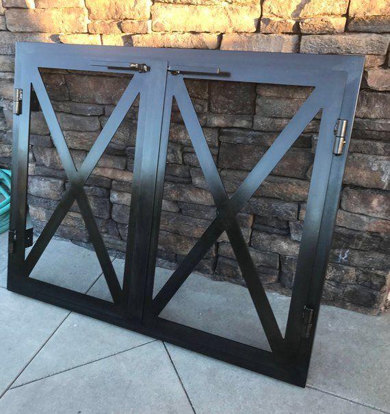 Hand Made Iron Fireplace Doors Custom Made To Your