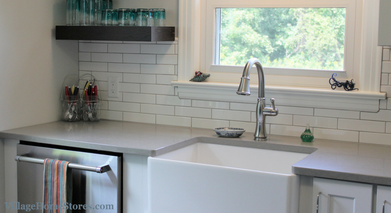 Long Subway Tile Backsplash In Kitchen Villagehomestores Com