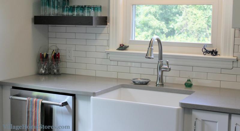 Long Subway Tile backsplash in kitchen. | VillageHomeStores.com ...
