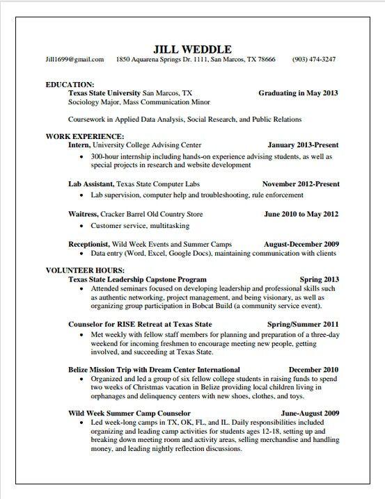 My Resume Resumes on Pinterest Pinterest - social researcher sample resume