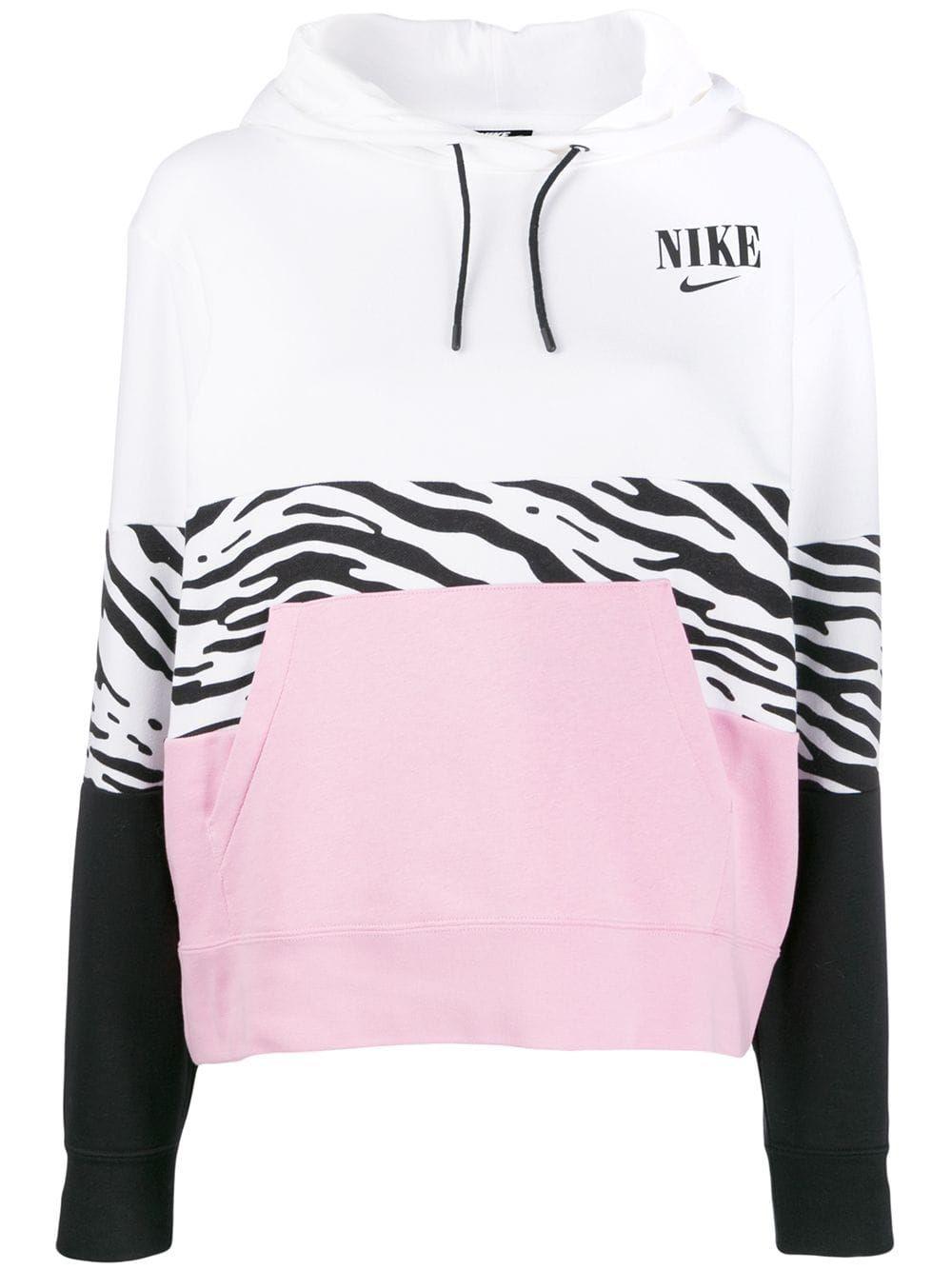 Nike Colour Block Hoodie Farfetch Hoodies White Hoodie Nike [ 1334 x 1000 Pixel ]