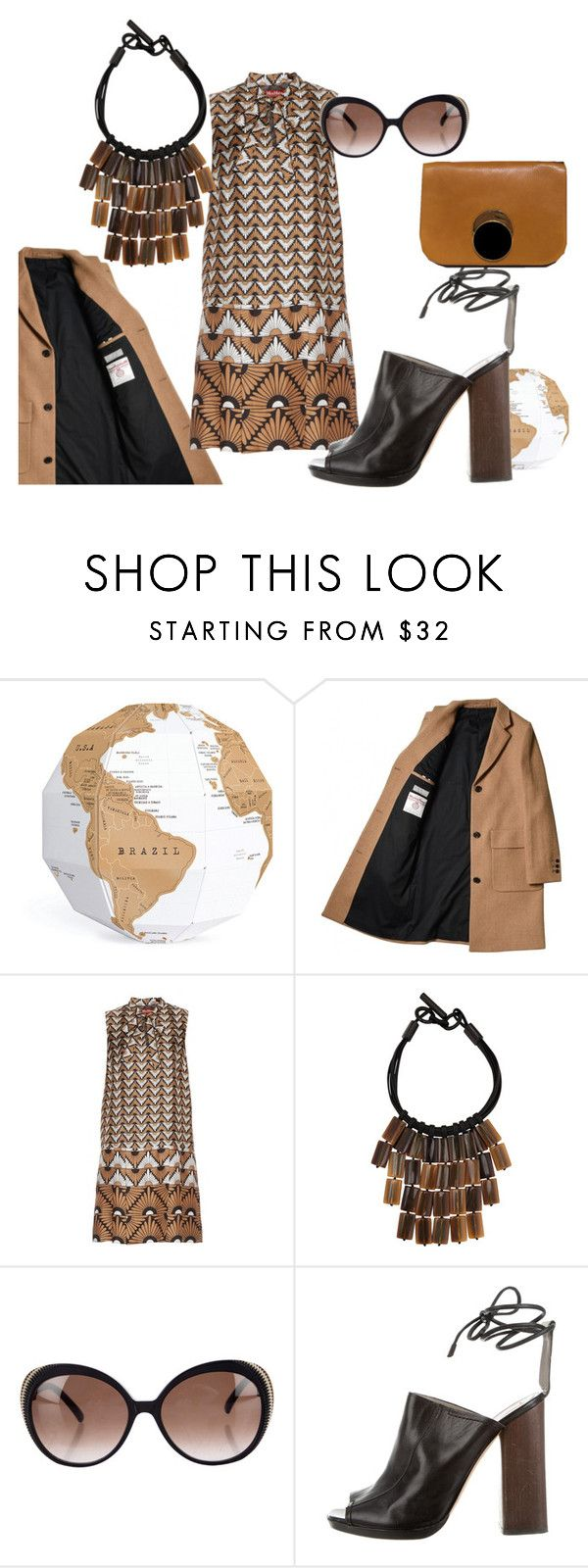 """brown"" by sugarmoonmama ❤ liked on Polyvore featuring Luckies, MaxMara, Nest, Alexander McQueen, Reed Krakoff and Marni"