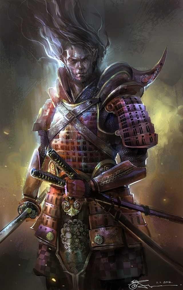 Demon King , Jaan van Eeden | Fantasy samurai, Samurai art