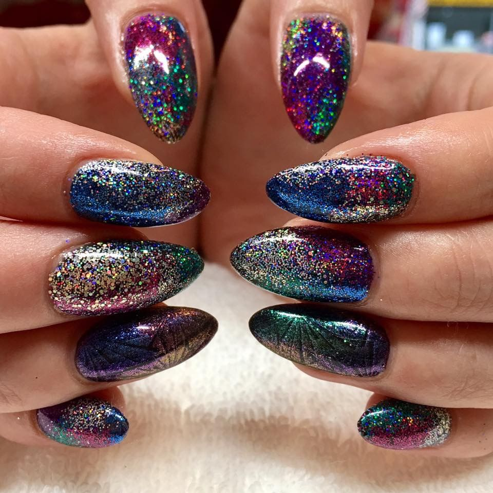 New Year\'s Eve Nail design by Amy Thompson at Fingertip Beauty ...
