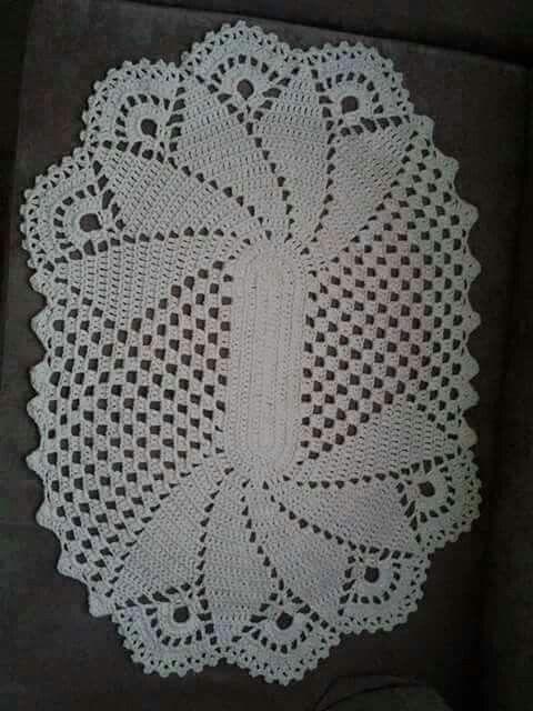 Vou fazer | croche tapete | Pinterest | Deckchen, Muster und ...