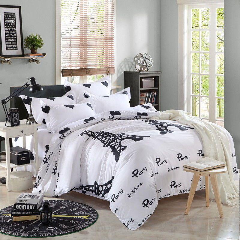 Single Queen King Reißverschluss Bettwäsche Kissenbezug Bettbezug