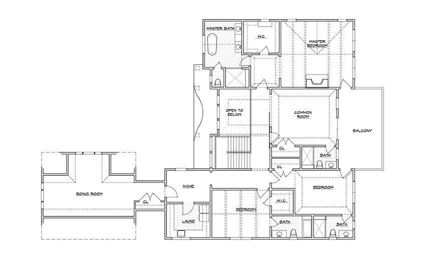 coastal living hamptons showhouse floor plan second floor - Coastal Living Floor Plans