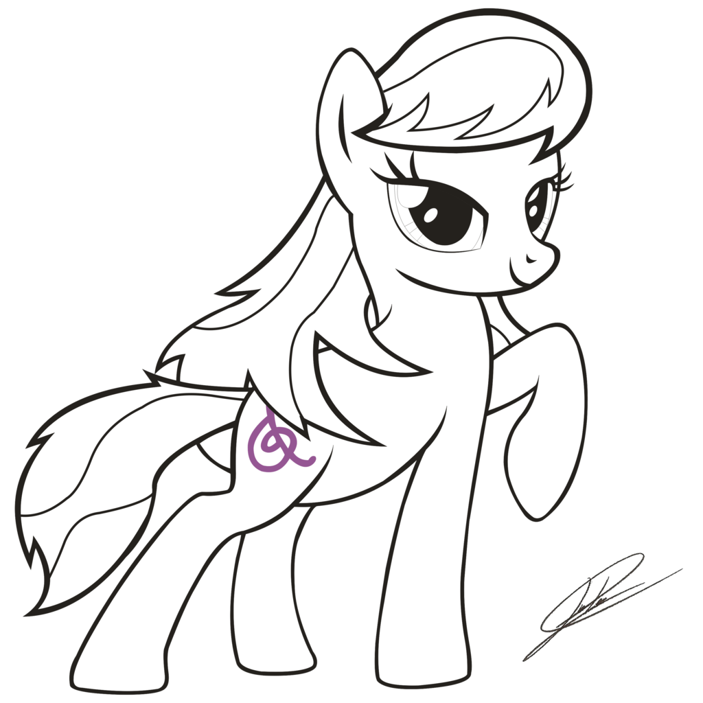 Mlp Fim Octavia Melody Lineart By Dsonic720 D66z0dr