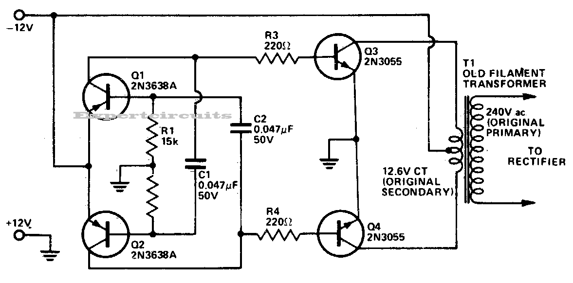 Dc To Dc Ac Inverter Circuit Diagram With Images Circuit