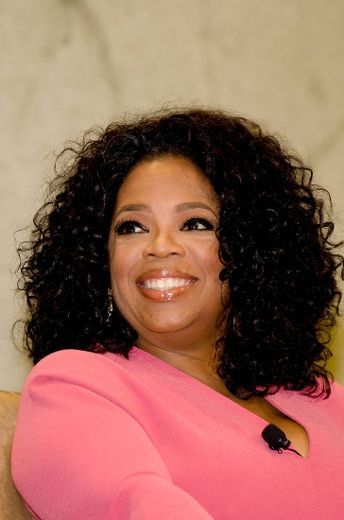 Oprah, is there anything she can't do? Much respect! | Human hair wefts, Black curly hair, Curly ...