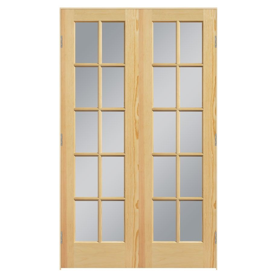 Masonite prehung solid core 10 lite clear glass pine for 1 lite clear glass pine primed white prehung interior door