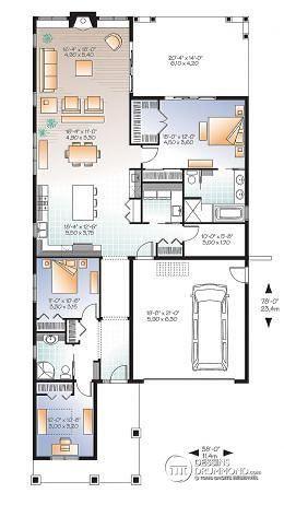 Détail du plan de Maison unifamiliale W3240-ES Cuisine Pinterest - plan de maison design