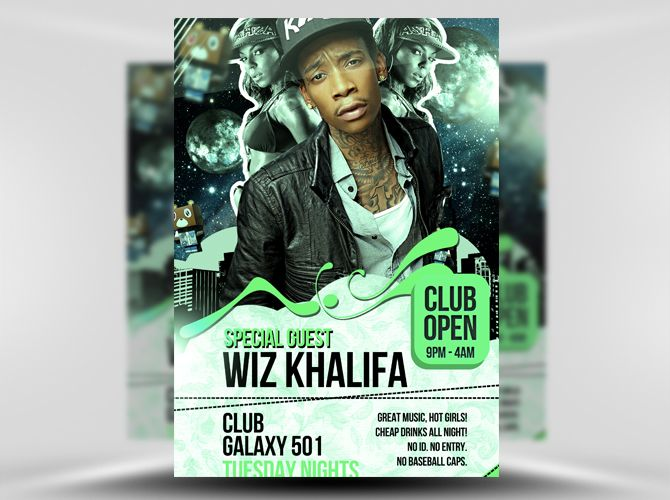 Galaxy Free Psd Flyer Template HttpsNoobworxComStore