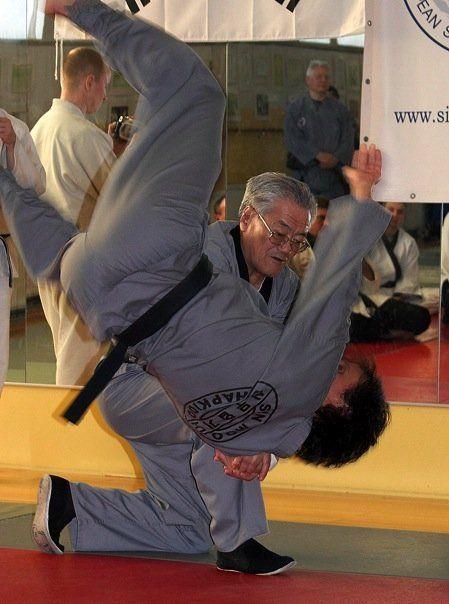 Dojunim Ji Han Jae and Master Sean Bradley | Sinmoo Hapkido