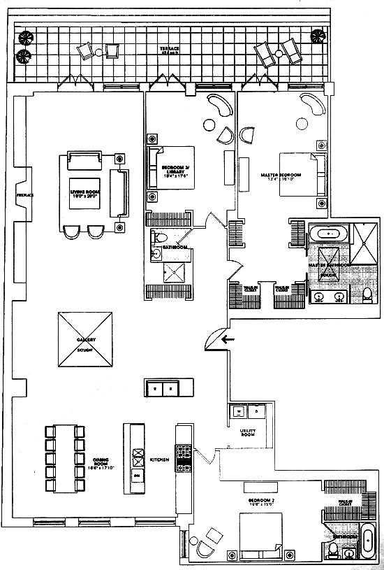Chris Martin And Gwyneth Paltrow S New York Home Penthouse Apartment Floor Plan Floor Plans How To Plan