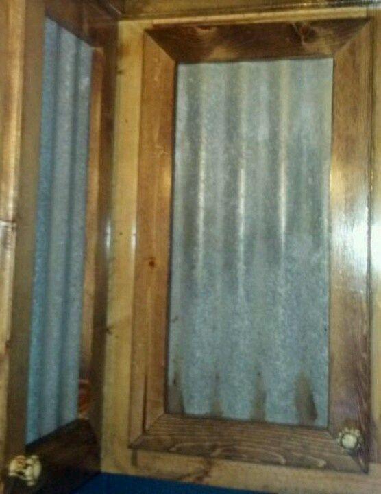 Barn Wood Wainscot Ideas Our Cabinet Doors Pine Tin Panels Antler Pulls