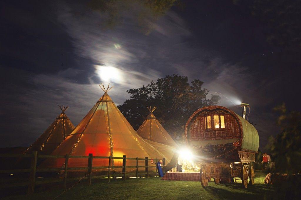 peak tipis, alternative wedding venue, tipi, kata tent, derbyshire tipi supplier, tipis at night