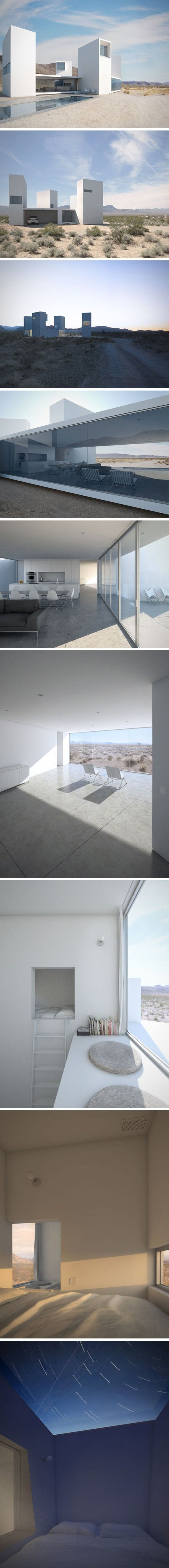 Maison familiale dans le désert californien Voici une des réalisations du studio Edward Ogosta Architecture, la Four Eyes House a été conçue non pas pour l