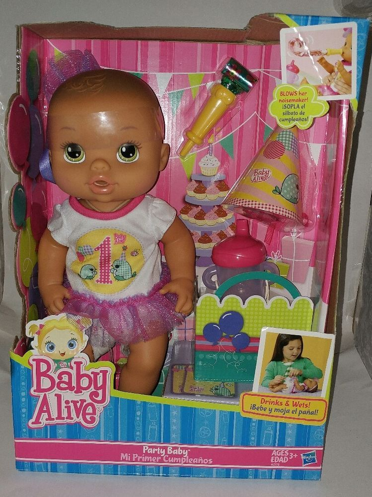 Baby Alive Party Baby Doll Drinks Wets New Rare First Birthday Babyalive Baby Dolls Baby Alive Toys For Boys