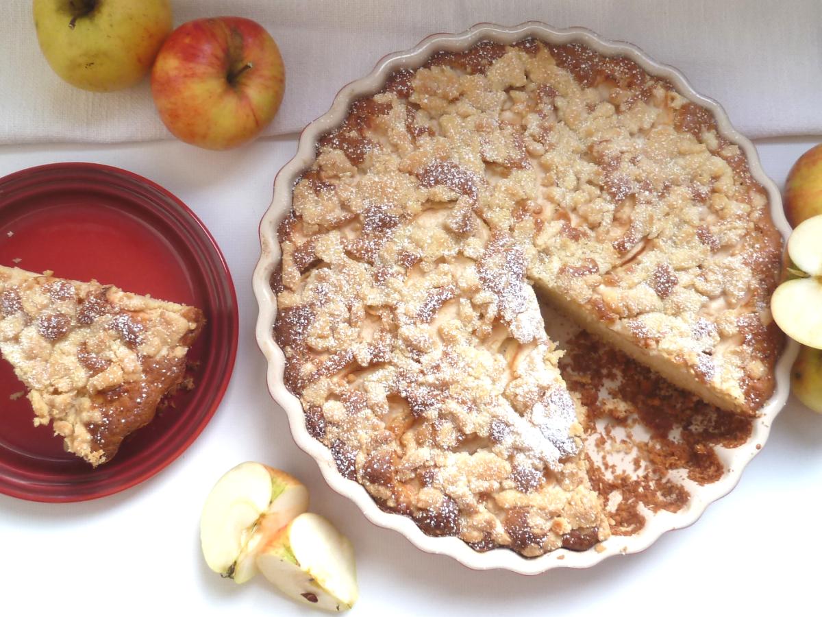 Apfel-Crumble Kuchen - Fallobst clever verwerten #Äpfelverwerten Apfel-Crumble Kuchen - Fallobst clever verwerten #Äpfelverwerten