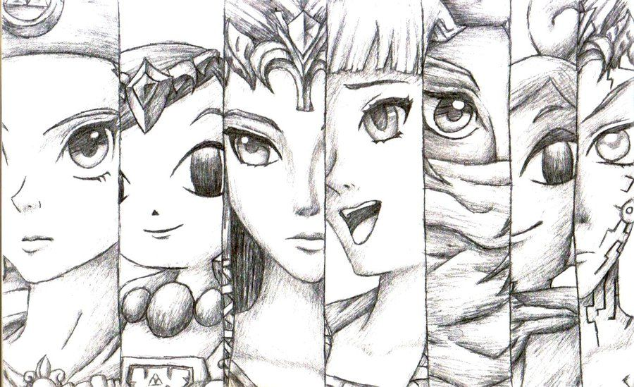 Princess Zelda Drawing Princess Zelda Collection By Legend Of