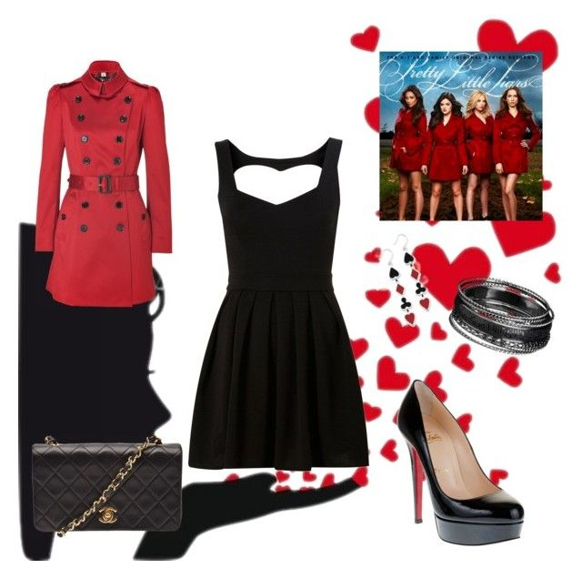 45 by ino-crazy on Polyvore featuring Topshop, Burberry, Christian Louboutin and Chanel