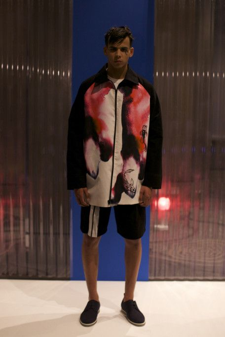 British design talent Joseph Turvey showcases his SS15 collection as part of LC:M.