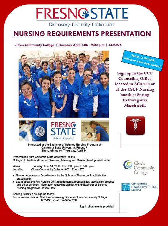 Don T Miss This Week S Nursing Requirements Presentation By Fresno