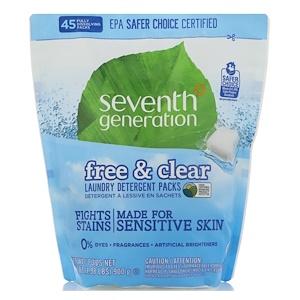 Seventh Generation Laundry Detergent Packs Free Clear 45 Packs 1 98 Lbs 31 7 Oz In 2020 Seventh Generation Laundry Detergent Laundry Detergent Natural Laundry Detergent