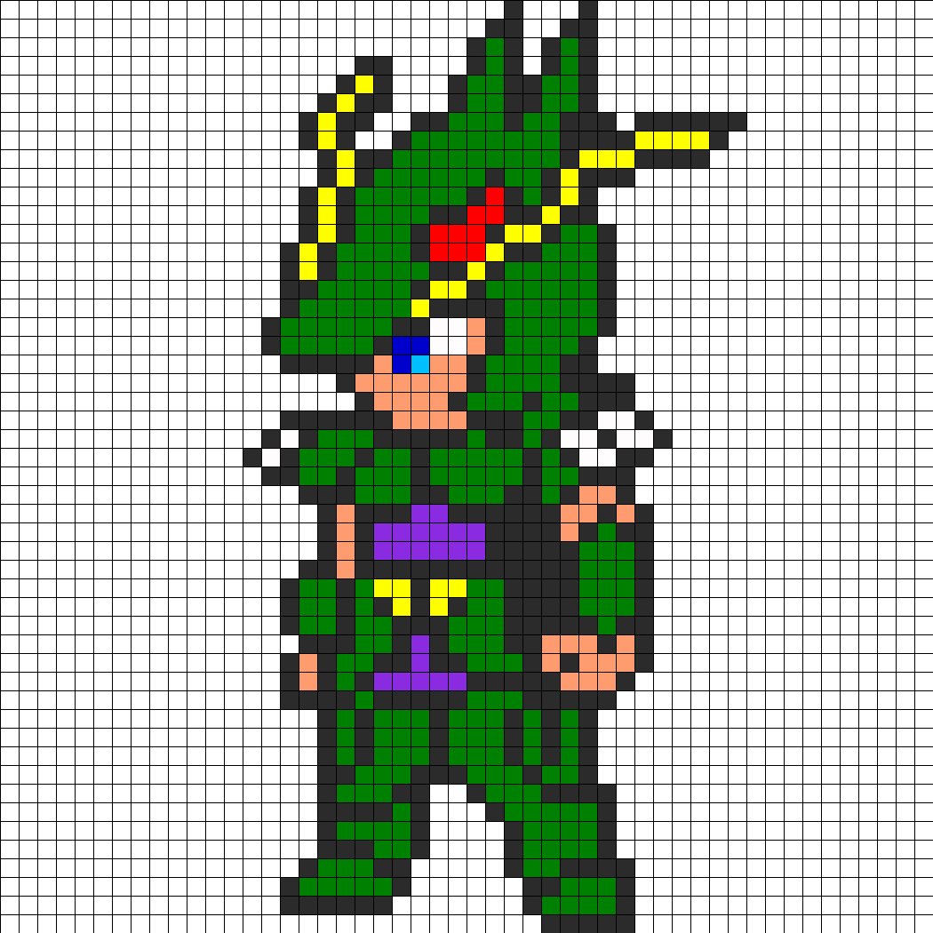 Dragon Shiryu Saint Seiya Perler Bead Pattern Pixel Art