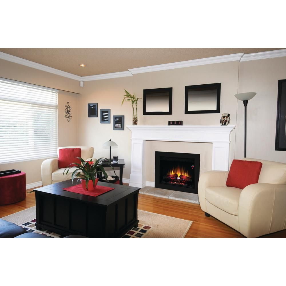 home depot electric fireplace logs