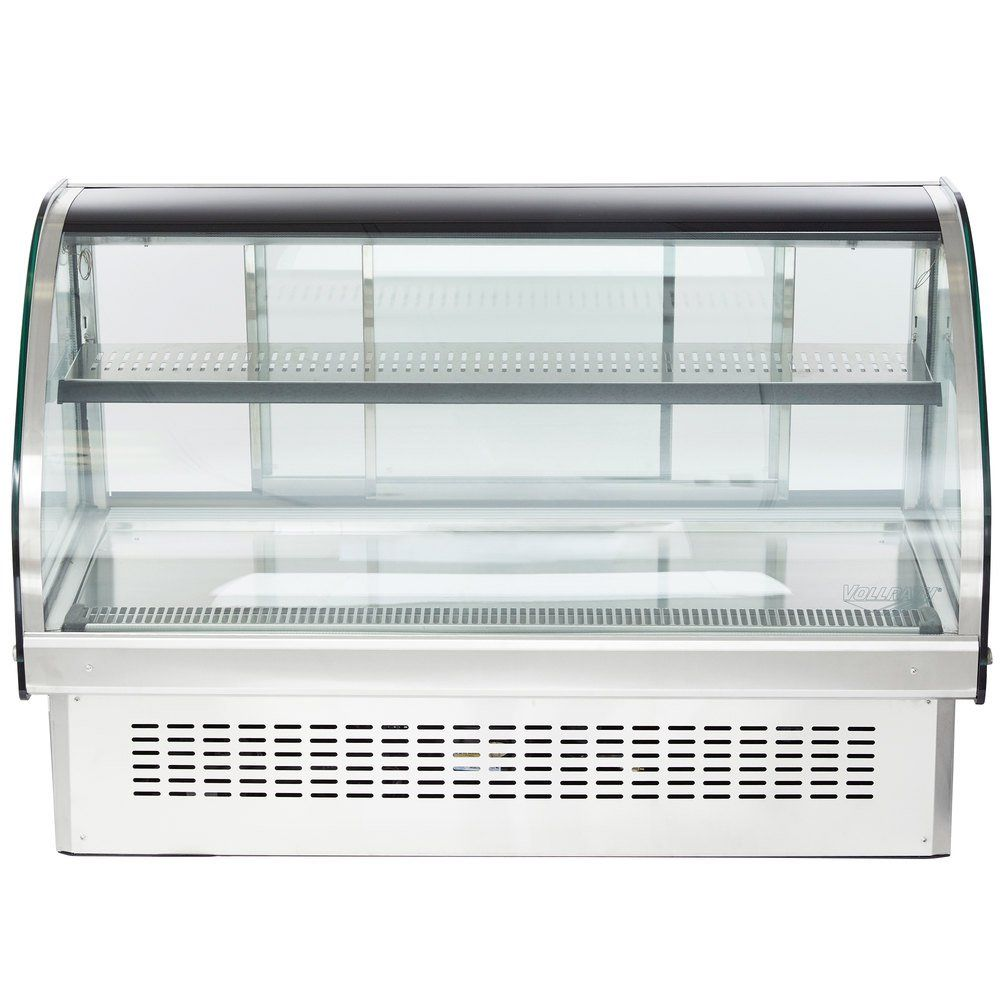Vollrath 40843 48 Curved Glass Drop In Refrigerated Countertop