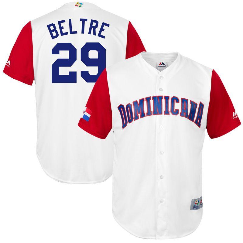 finest selection fafa9 0e8ba Adrian Beltre Dominican Republic Baseball Majestic 2017 ...